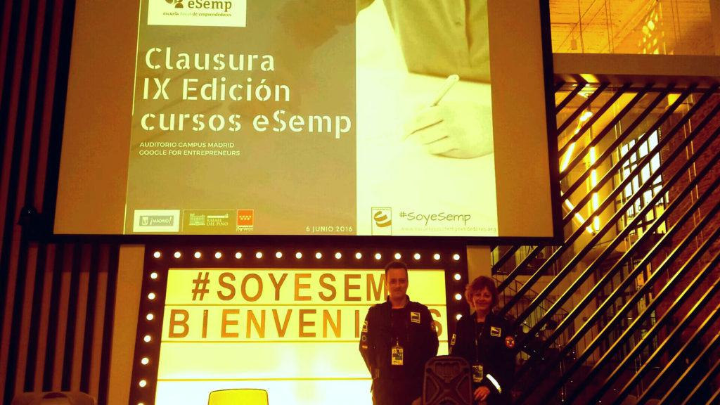Presentación de RITRAC en el Campos de Google, en Madrid