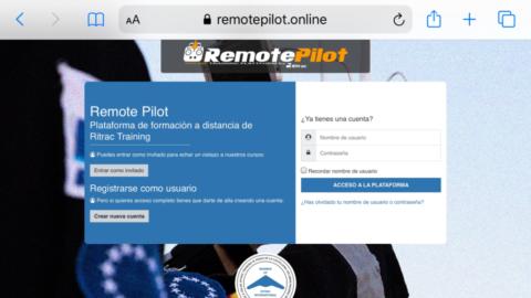 Presentamos nuestra plataforma de formación a distancia REMOTE PILOT